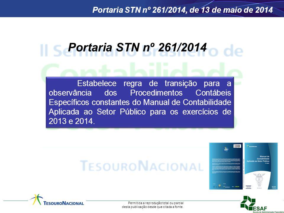 Portaria STN nº 261/2014, de 13 de maio de 2014