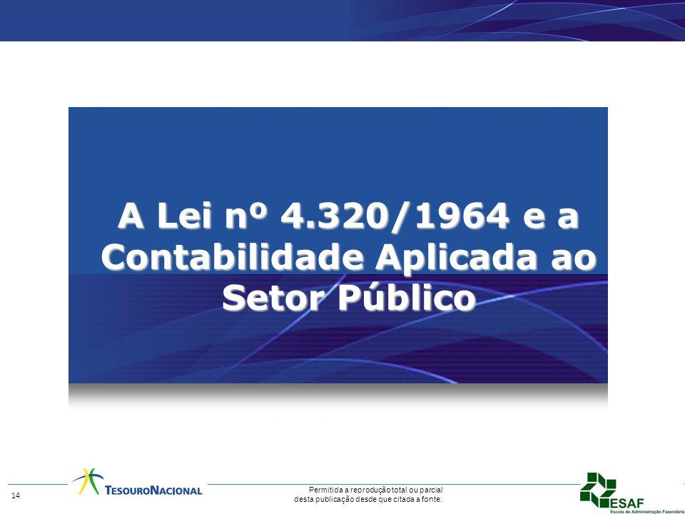 A Lei nº 4.320/1964 e a Contabilidade Aplicada ao Setor Público