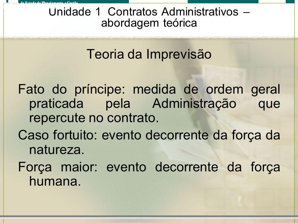 Unidade 1 Contratos Administrativos – abordagem teórica