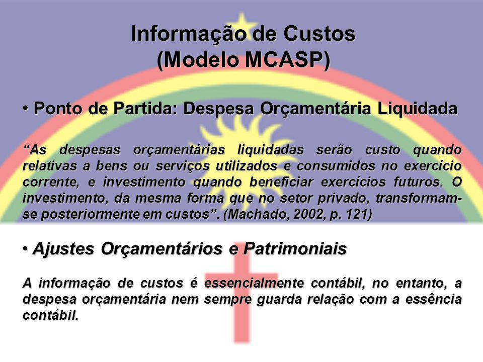 Informação de Custos (Modelo MCASP)