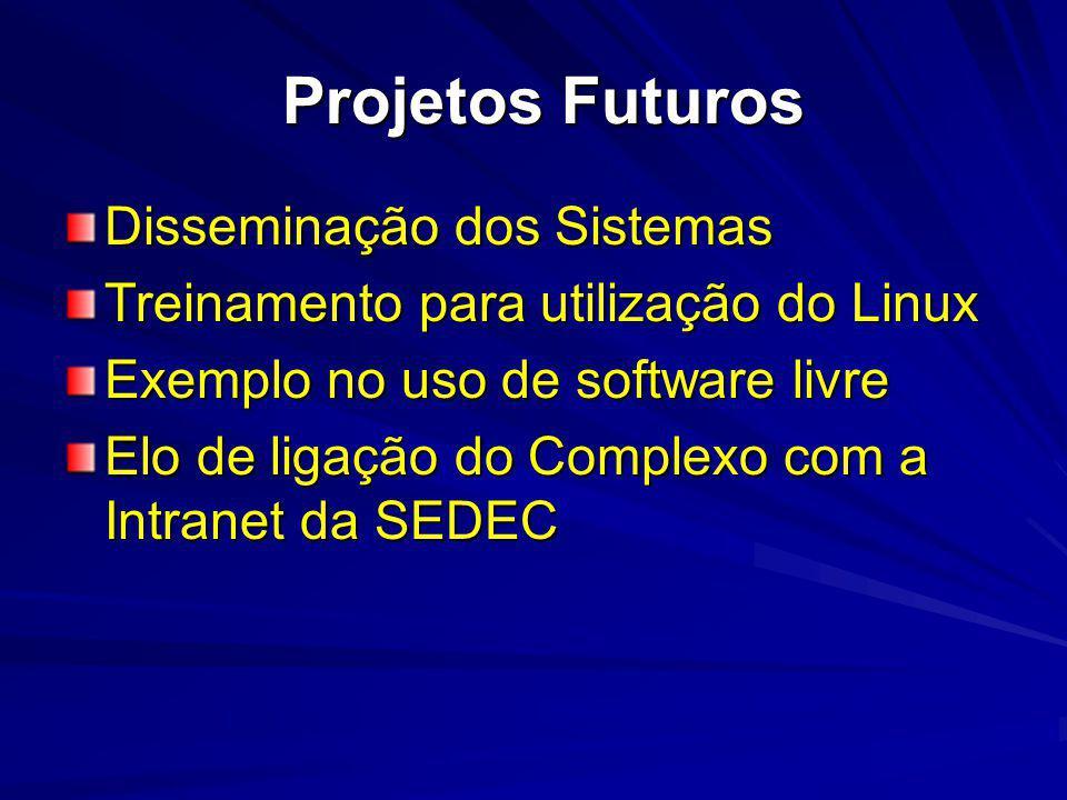 Projetos Futuros Disseminação dos Sistemas