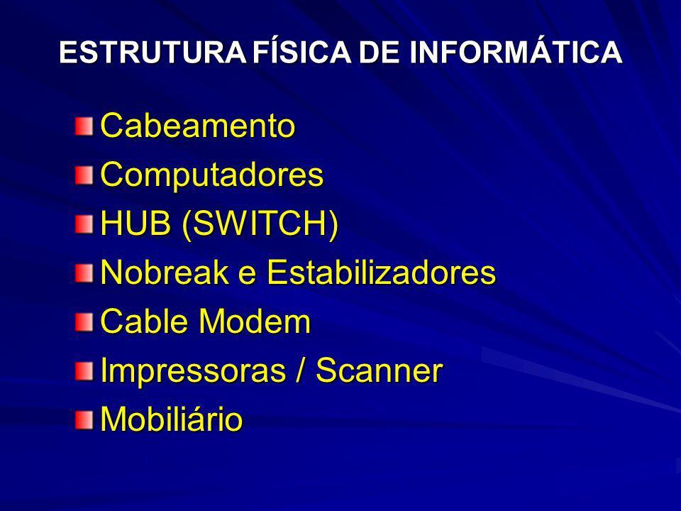 Nobreak e Estabilizadores Cable Modem Impressoras / Scanner Mobiliário