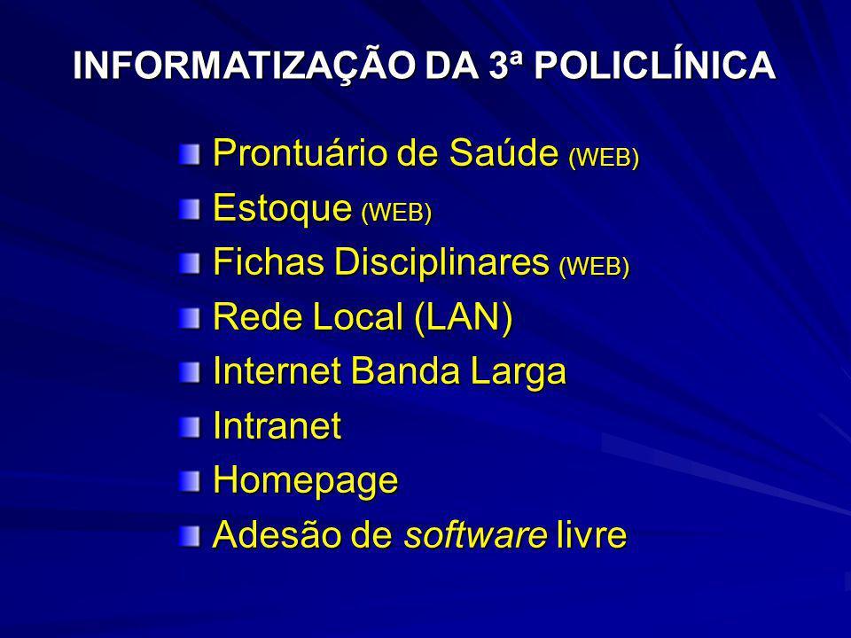 INFORMATIZAÇÃO DA 3ª POLICLÍNICA