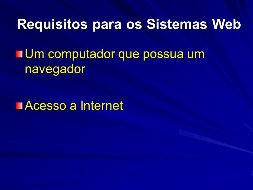 Requisitos para os Sistemas Web
