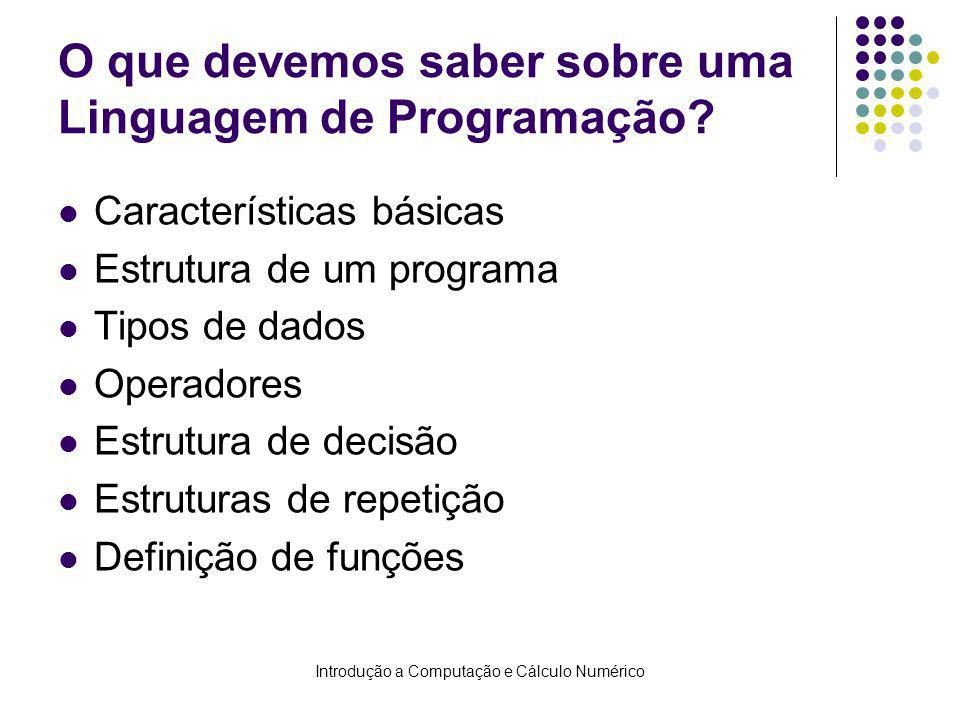 O que devemos saber sobre uma Linguagem de Programação