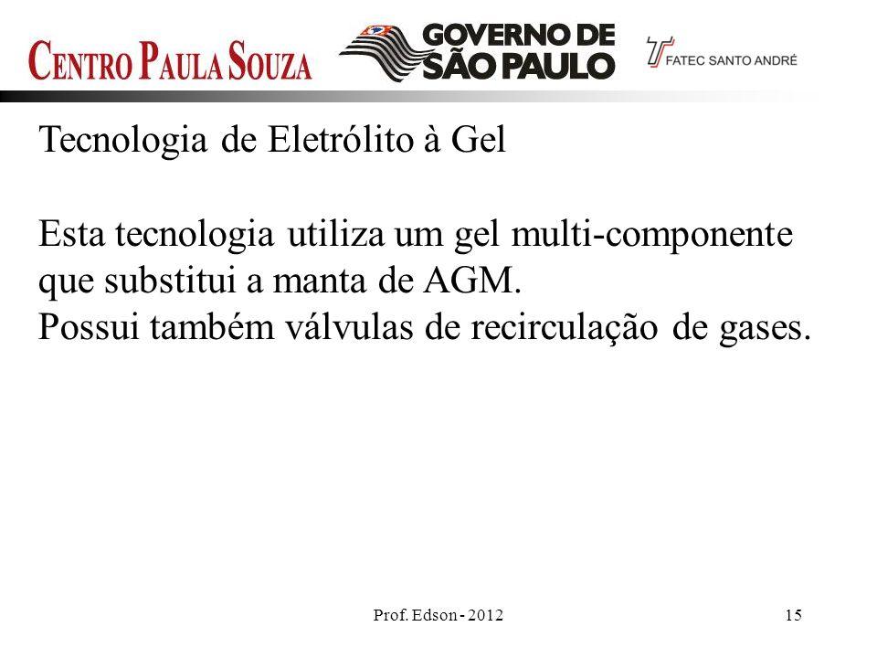 Tecnologia de Eletrólito à Gel