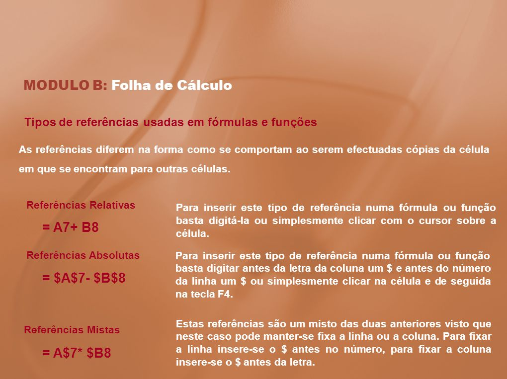 MODULO B: Folha de Cálculo