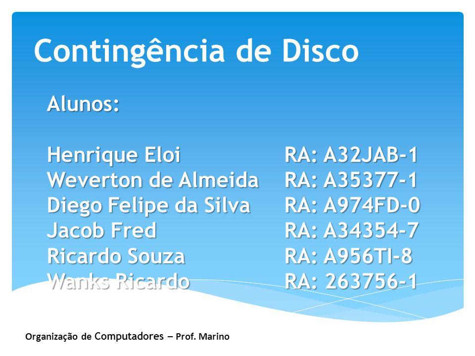 Contingência de Disco Alunos: Henrique Eloi RA: A32JAB-1
