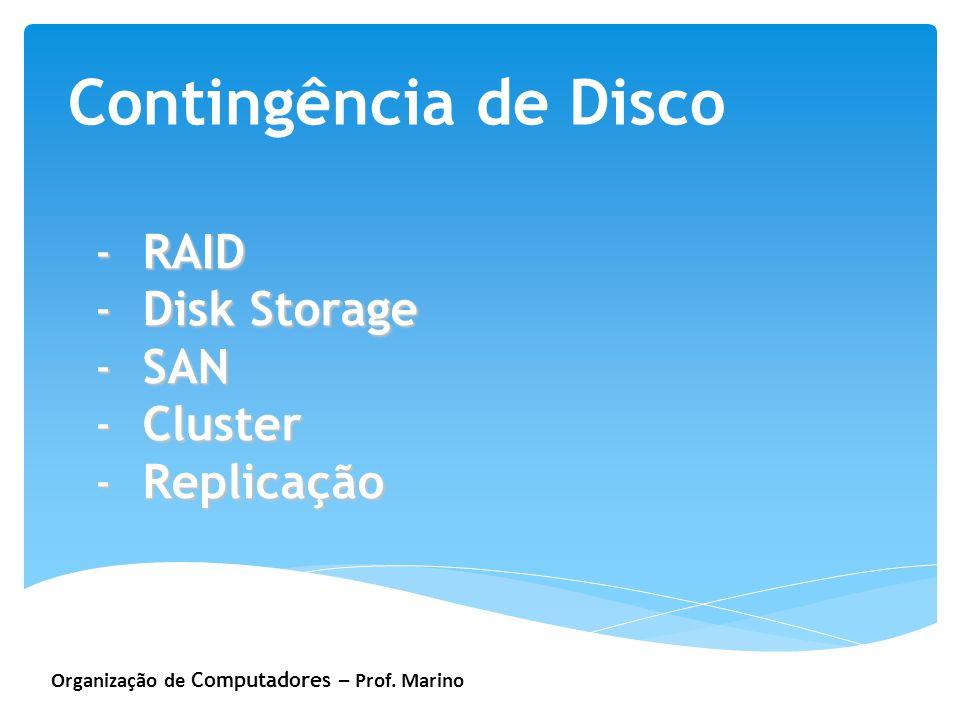 Contingência de Disco RAID Disk Storage SAN Cluster Replicação