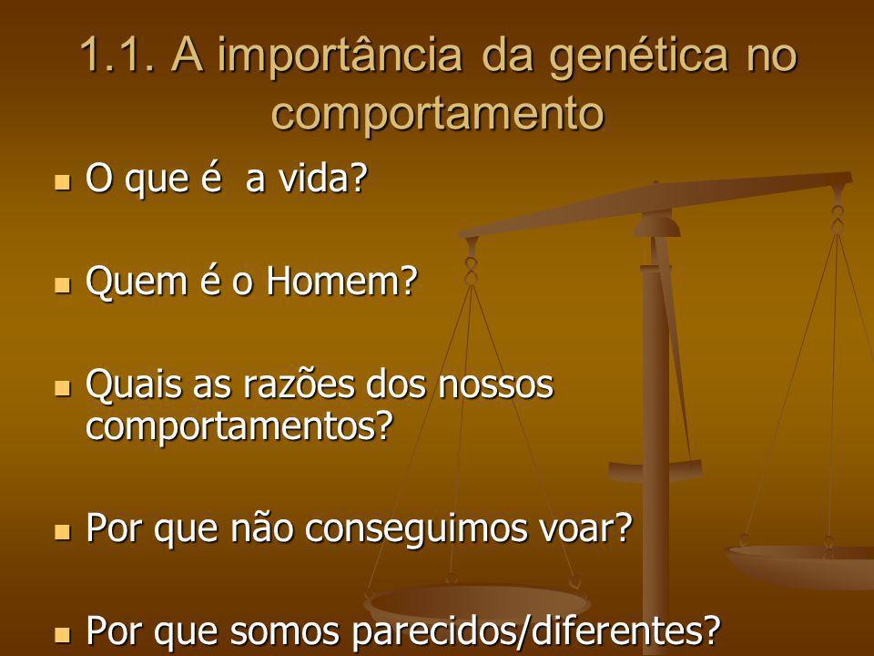 1.1. A importância da genética no comportamento