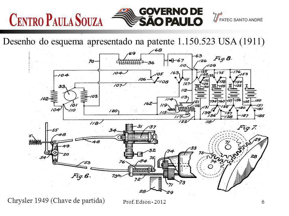 Desenho do esquema apresentado na patente 1.150.523 USA (1911)