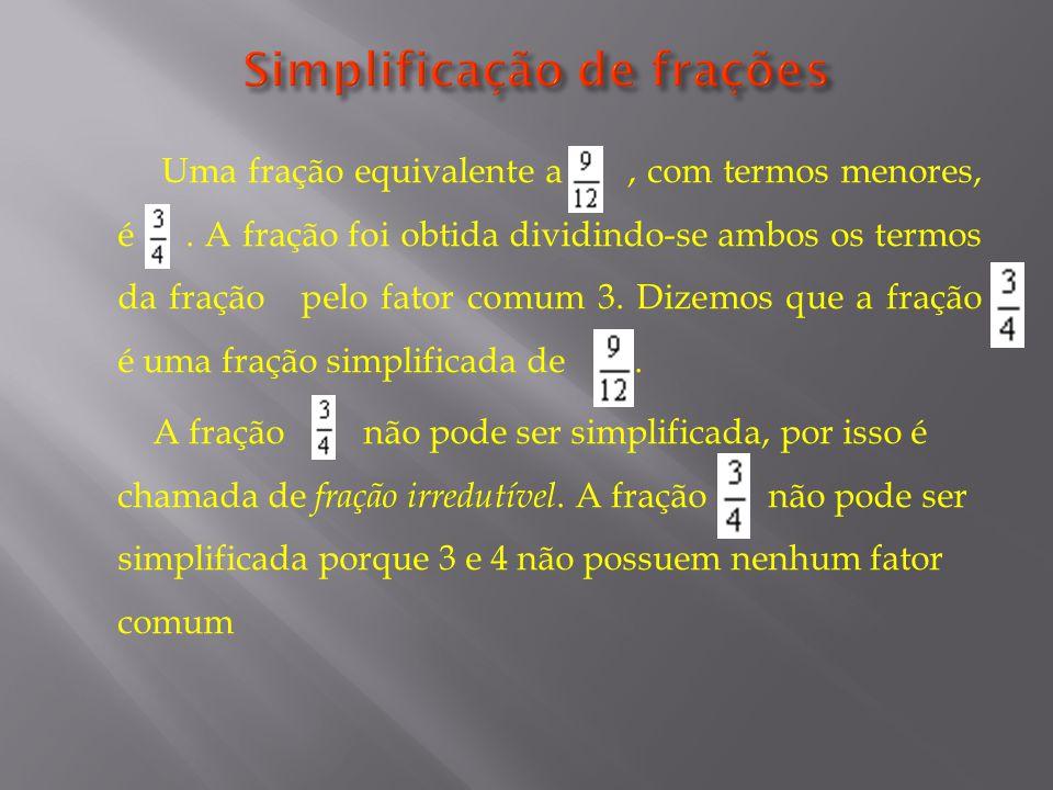 Simplificação de frações