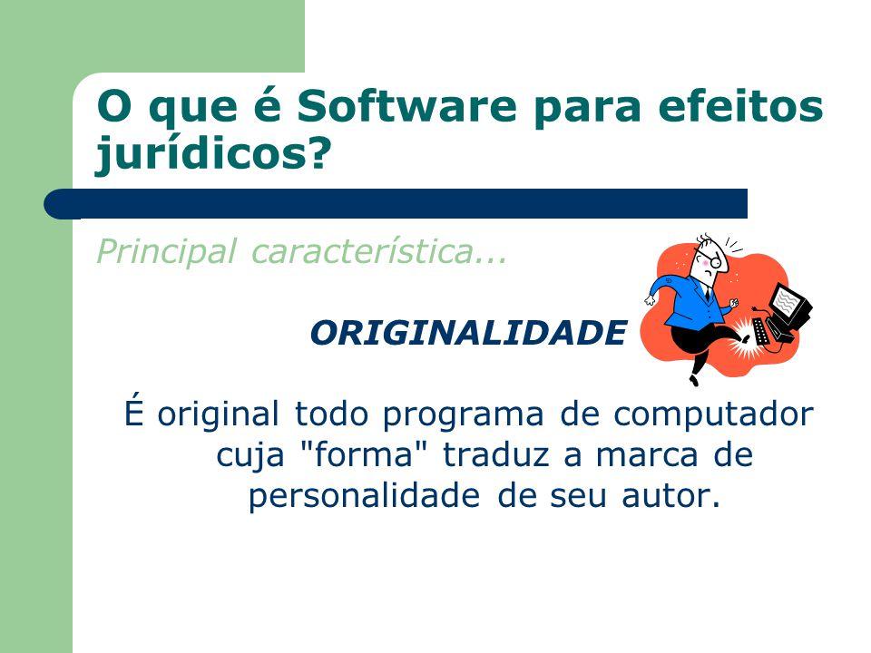 O que é Software para efeitos jurídicos