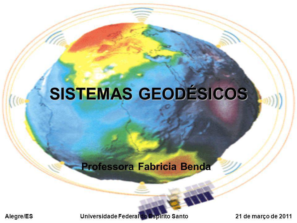 SISTEMAS GEODÉSICOS Professora Fabricia Benda