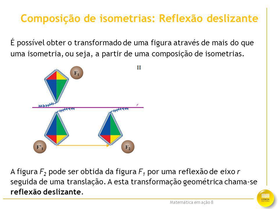 Composição de isometrias: Reflexão deslizante
