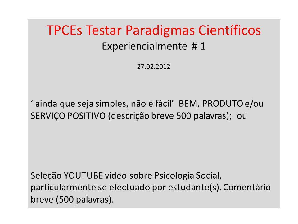 TPCEs Testar Paradigmas Científicos Experiencialmente # 1