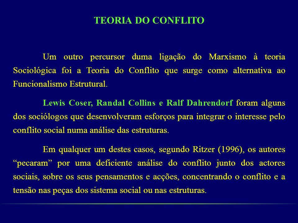 TEORIA DO CONFLITO