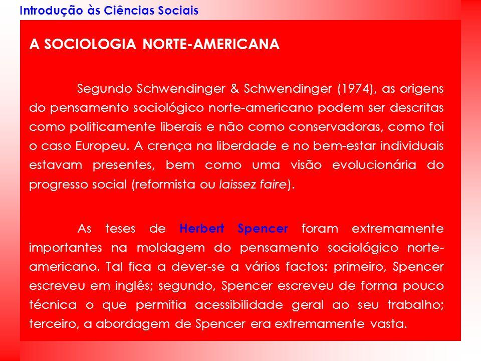 A SOCIOLOGIA NORTE-AMERICANA
