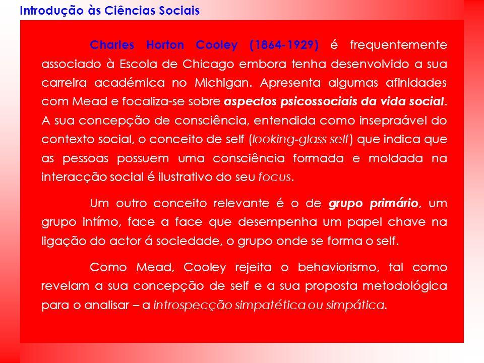 Introdução às Ciências Sociais