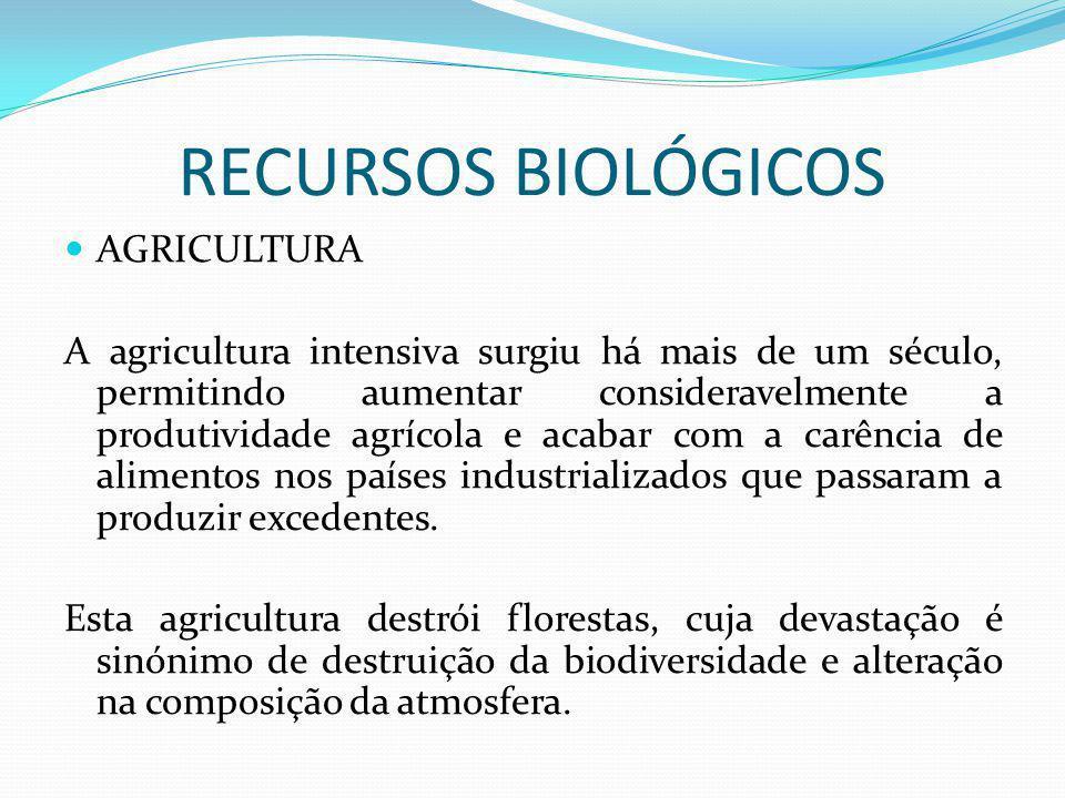 RECURSOS BIOLÓGICOS AGRICULTURA