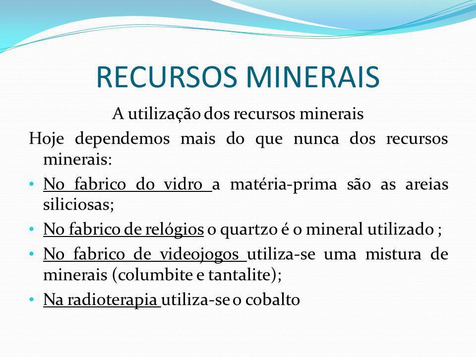 A utilização dos recursos minerais