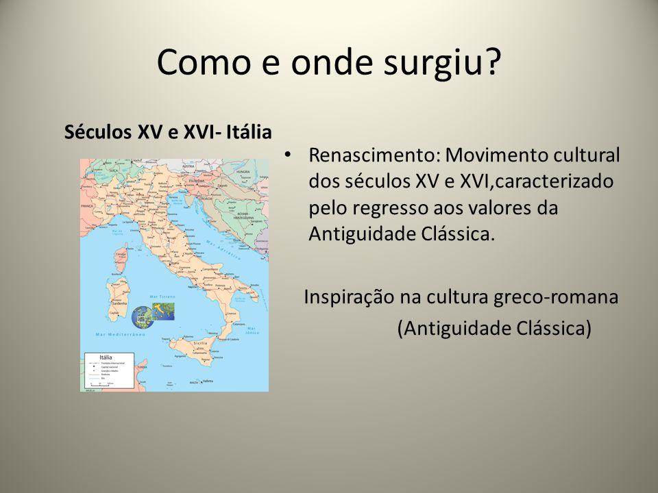 Séculos XV e XVI- Itália