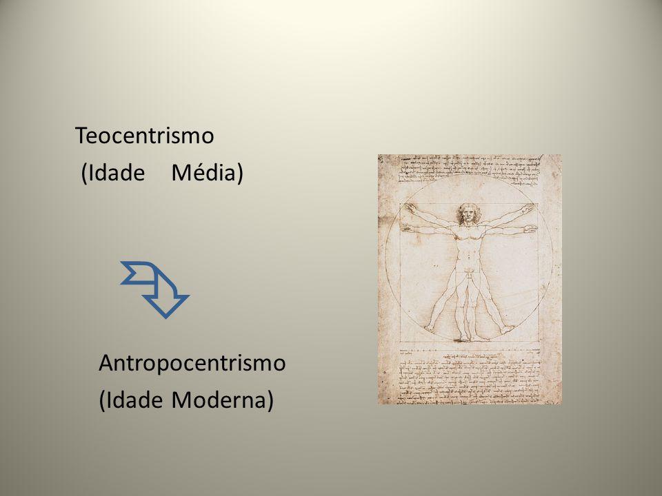 Teocentrismo (Idade Média)  Antropocentrismo (Idade Moderna)