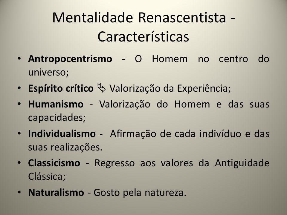 Mentalidade Renascentista -Características