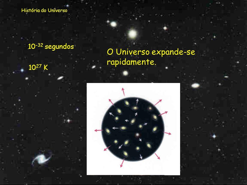 O Universo expande-se rapidamente.