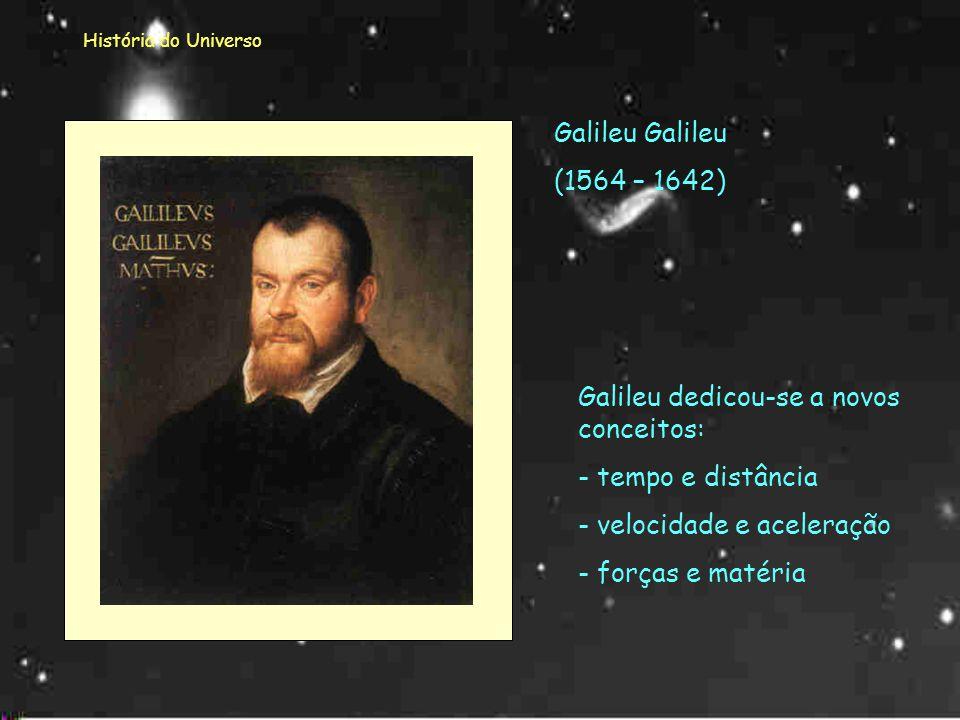 Galileu dedicou-se a novos conceitos: tempo e distância
