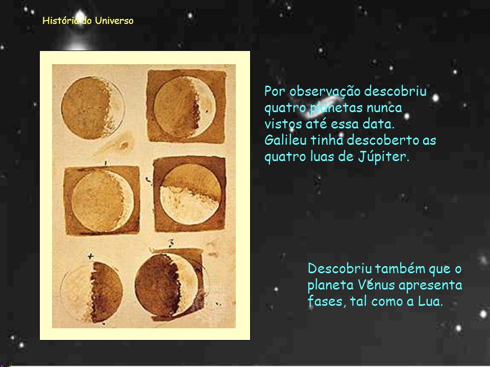 Descobriu também que o planeta Vénus apresenta fases, tal como a Lua.