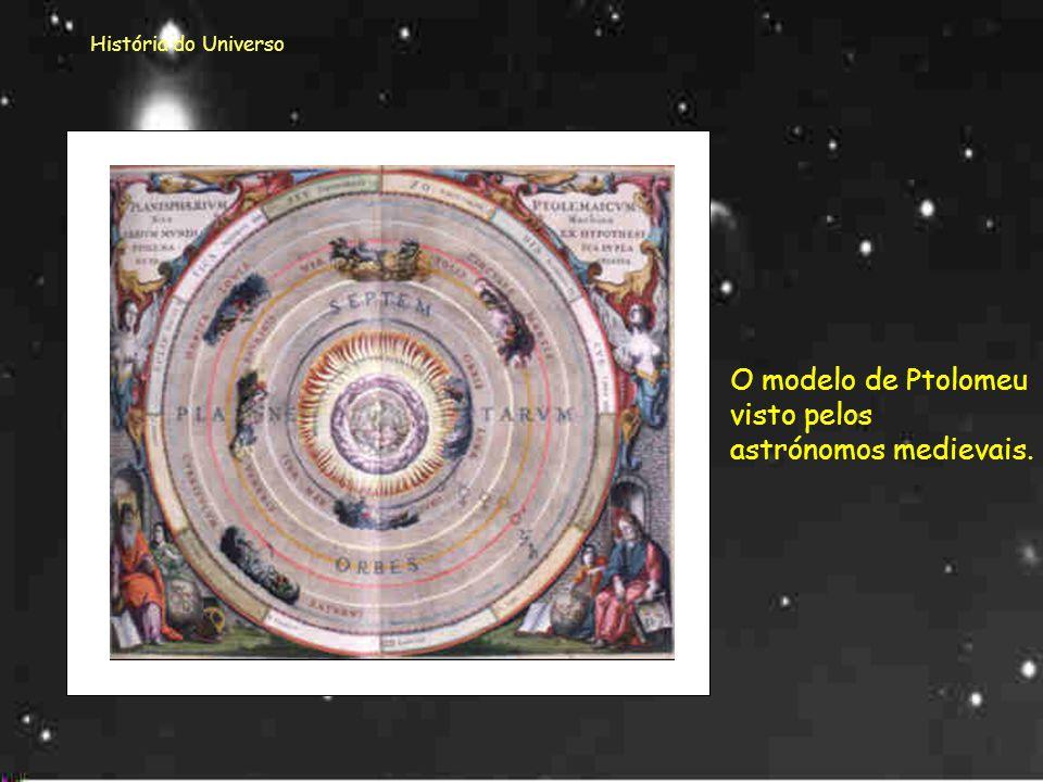 O modelo de Ptolomeu visto pelos astrónomos medievais.