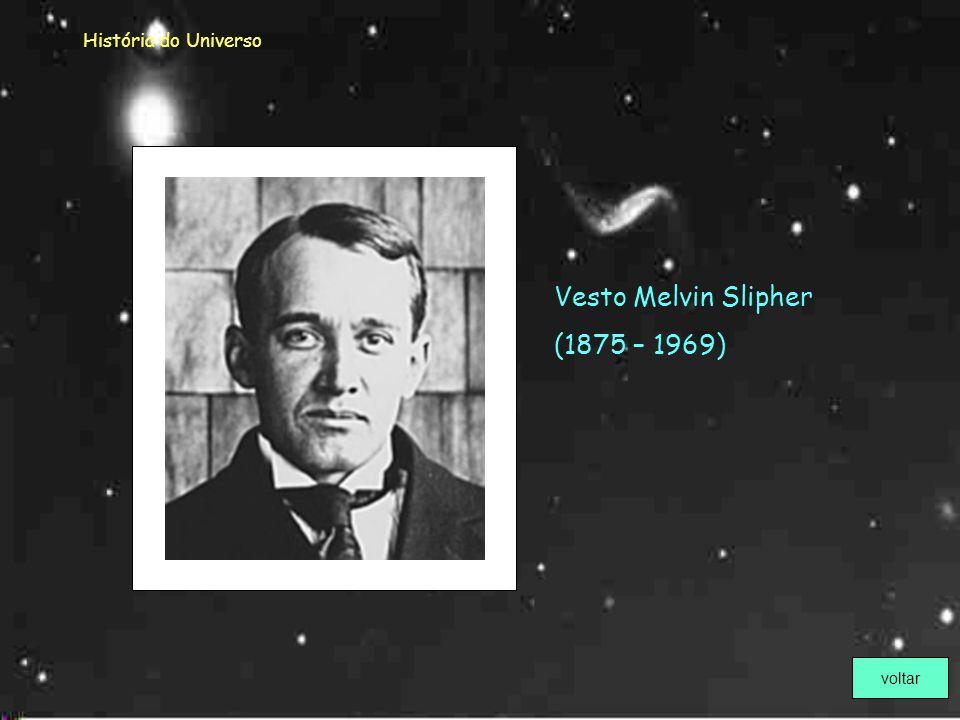 História do Universo Vesto Melvin Slipher (1875 – 1969) voltar