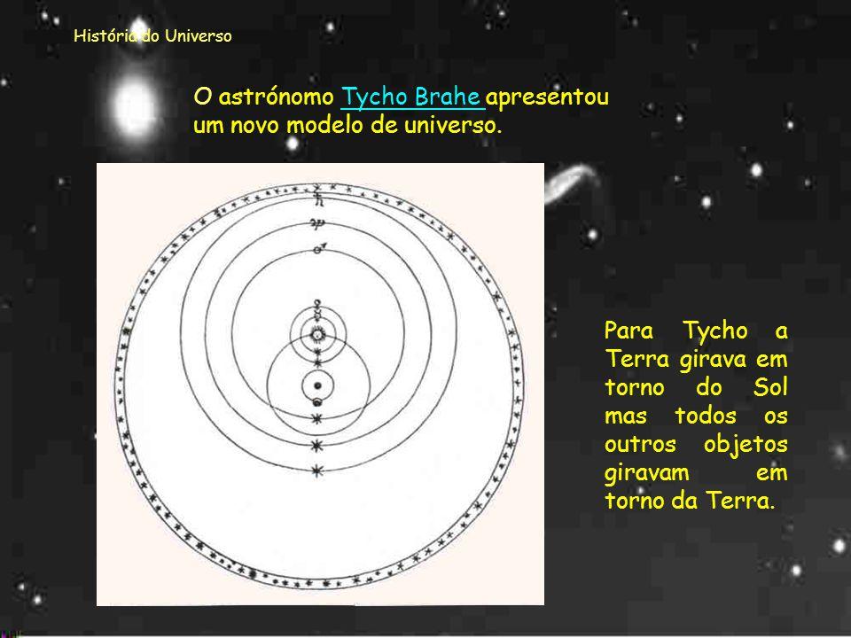 O astrónomo Tycho Brahe apresentou um novo modelo de universo.