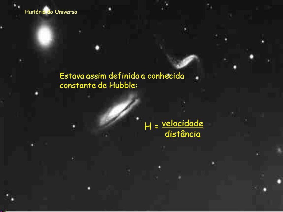 H = velocidade distância