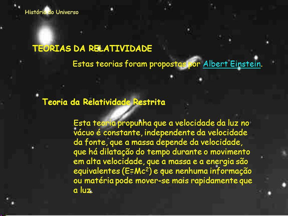 TEORIAS DA RELATIVIDADE