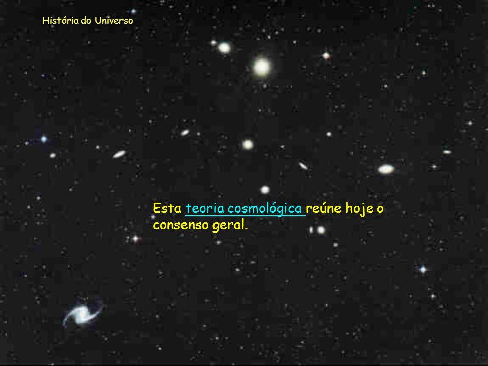 Esta teoria cosmológica reúne hoje o consenso geral.