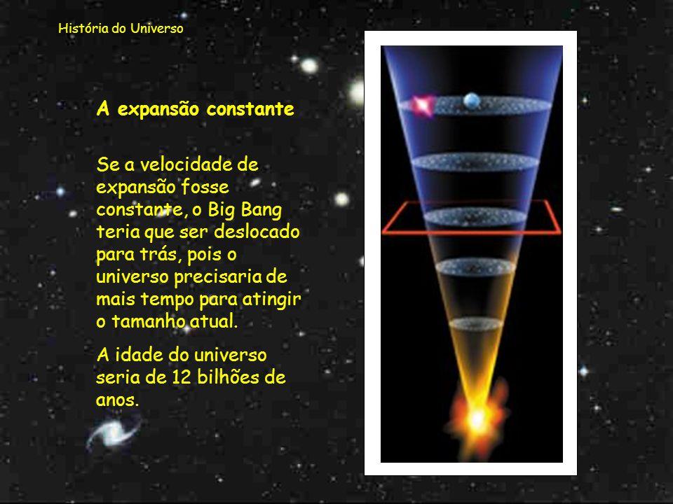 A idade do universo seria de 12 bilhões de anos.