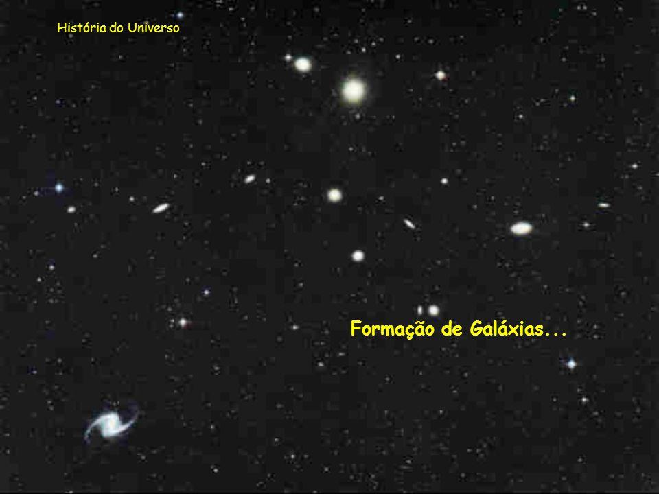 História do Universo Formação de Galáxias...