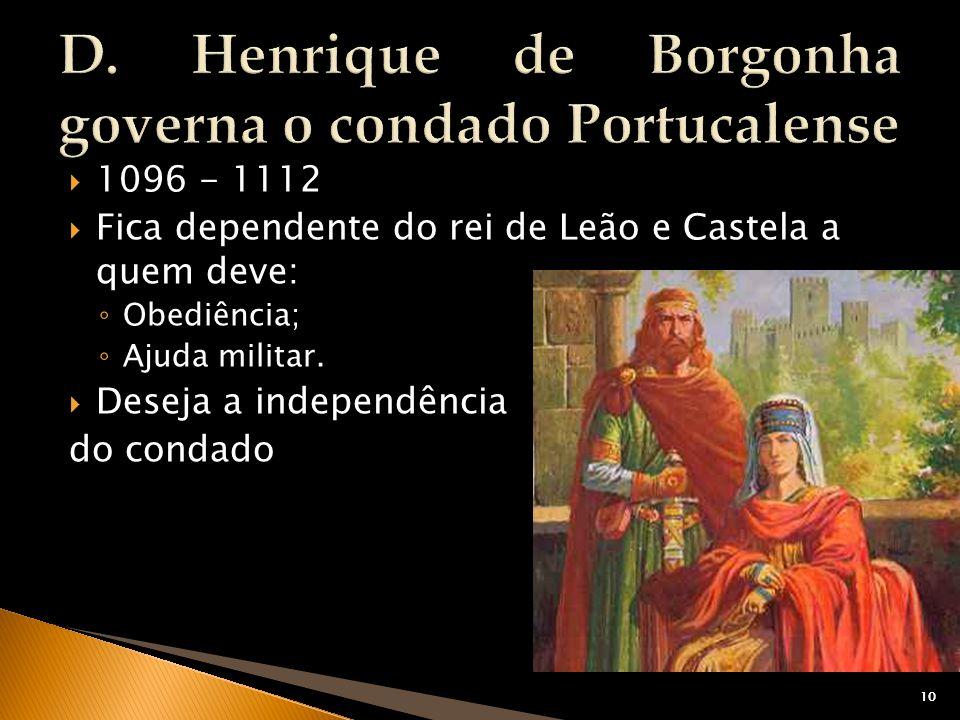 D. Henrique de Borgonha governa o condado Portucalense