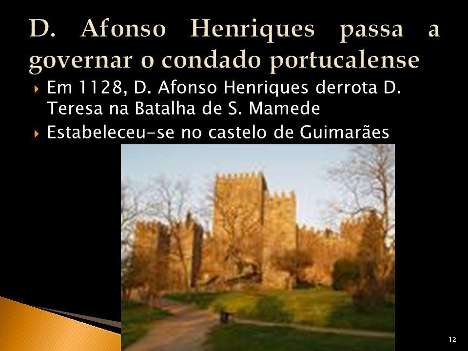 D. Afonso Henriques passa a governar o condado portucalense