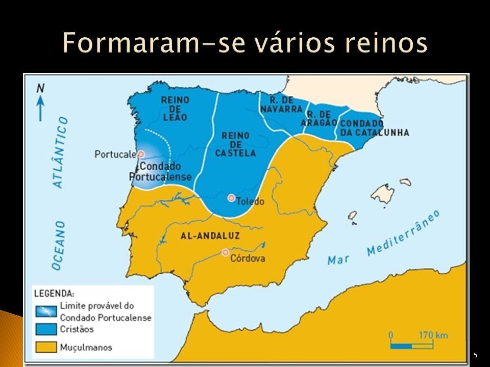 Formaram-se vários reinos