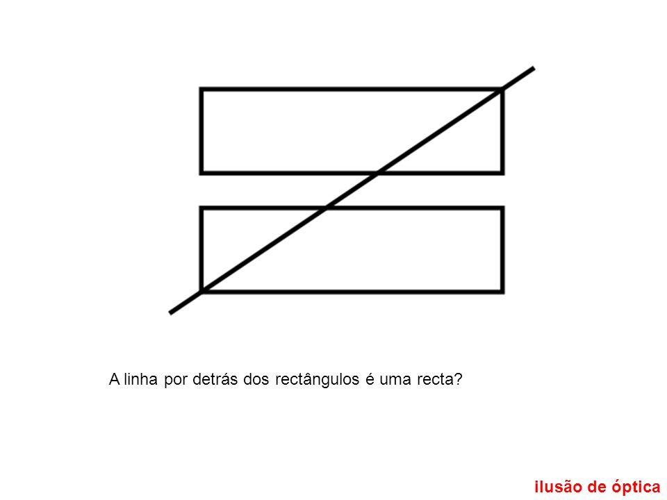 A linha por detrás dos rectângulos é uma recta
