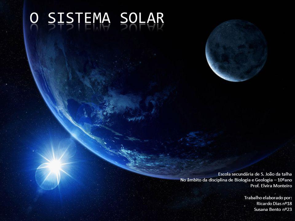O Sistema Solar Escola secundária de S. João da talha