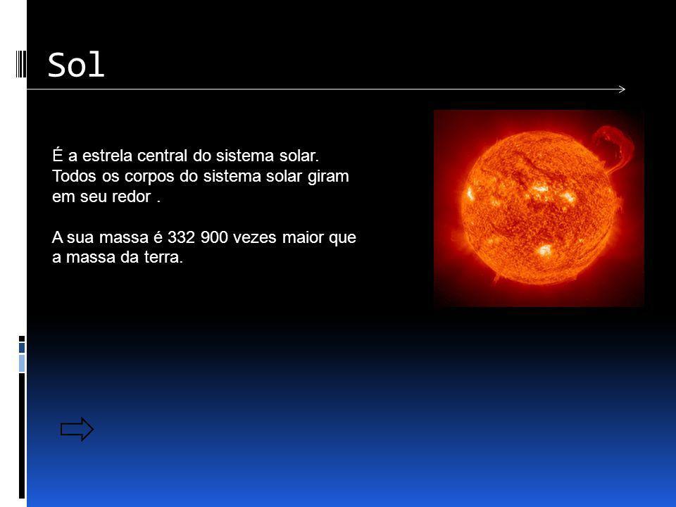 Sol É a estrela central do sistema solar. Todos os corpos do sistema solar giram em seu redor .