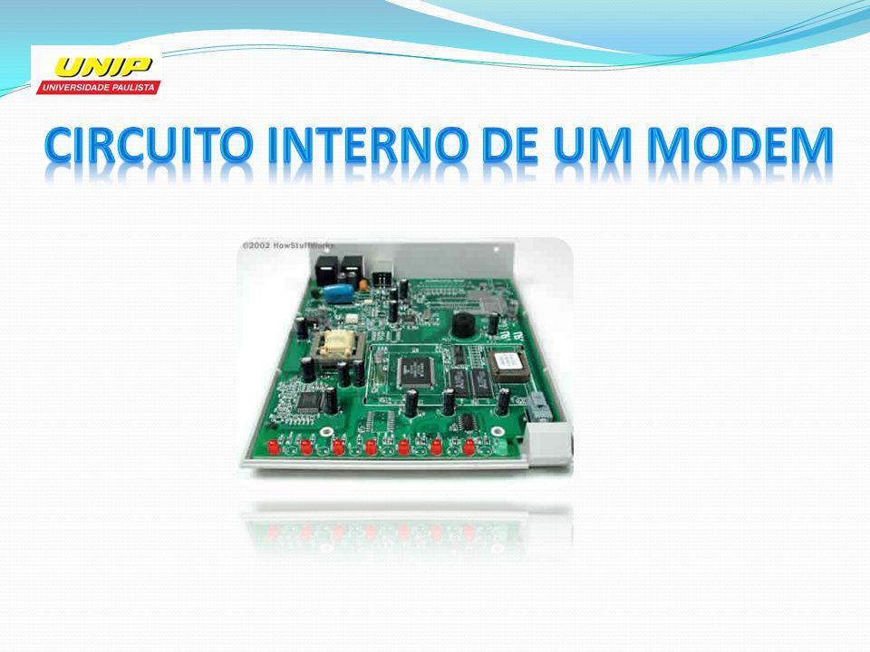Circuito interno de um modem