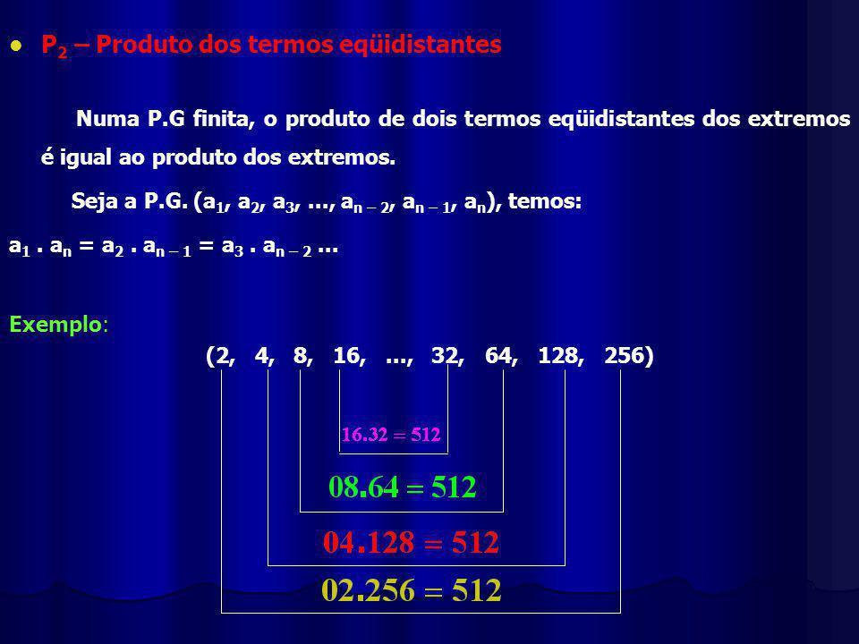 P2 – Produto dos termos eqüidistantes