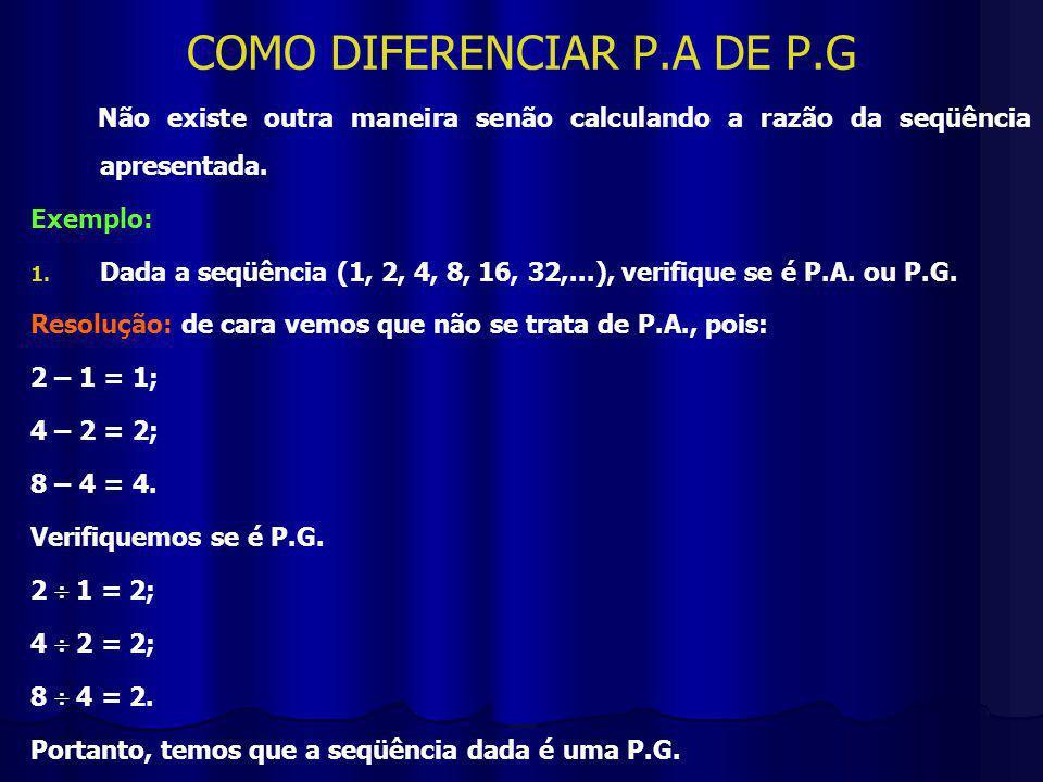 COMO DIFERENCIAR P.A DE P.G