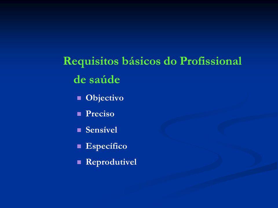 Requisitos básicos do Profissional de saúde