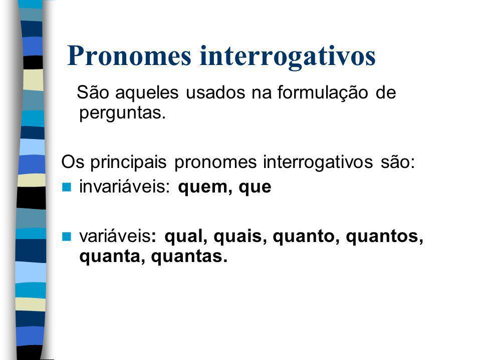Pronomes interrogativos